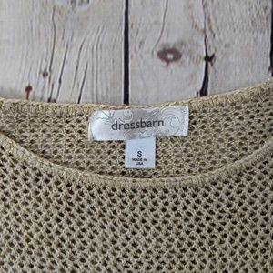 dressbarn Tops - Dressbarn Gold Metallic Crochet Top